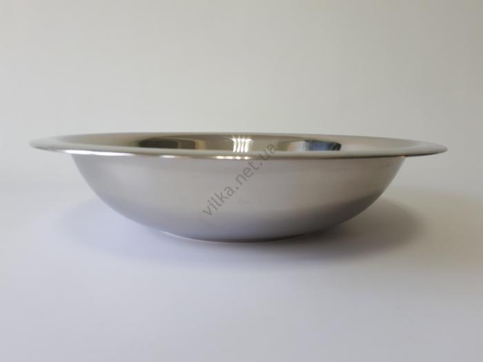 Миска глубокая, нержавеющая, d 40 cm, h 9 cm. (5 л.)