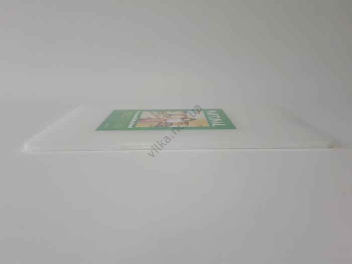 Доска разделочная пластмассовая белая 40,5*25 cm, t=1 cm.