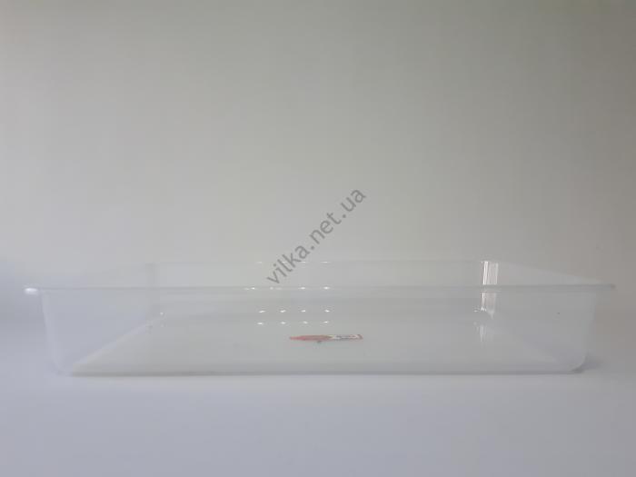 Лоток пластиковый прозрачный 56*35,5 cm, h 9 cm.