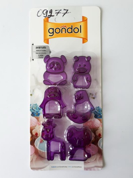 Форма для печенья пластмассовая животные G250