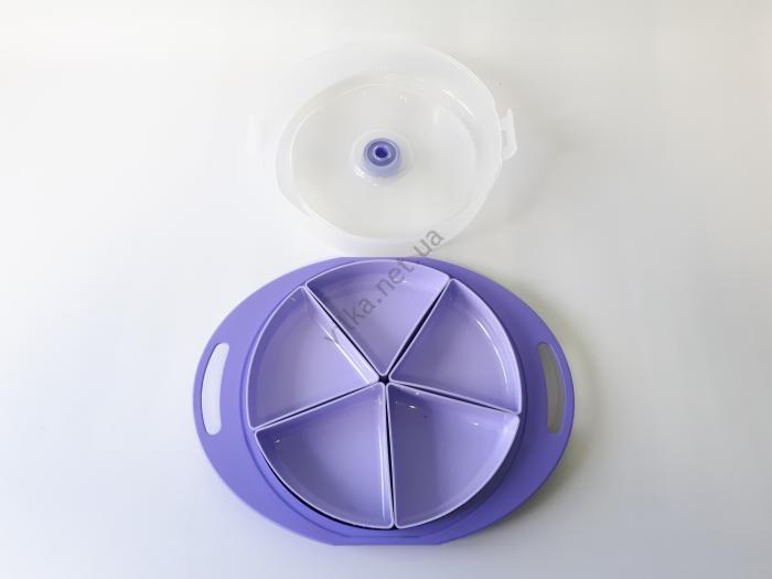 Менажница пластмассовая круглая G-222 35*27 cm, h 7,5 cm.