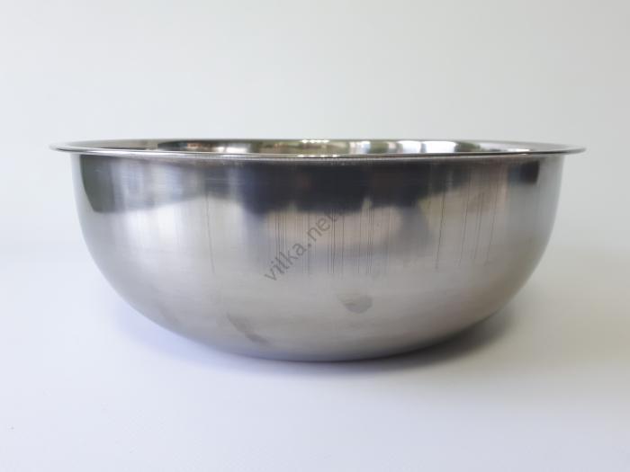 Миска нержавеющая, глубокая в/с d 32 cm, h 11 cm. (5.3 л)