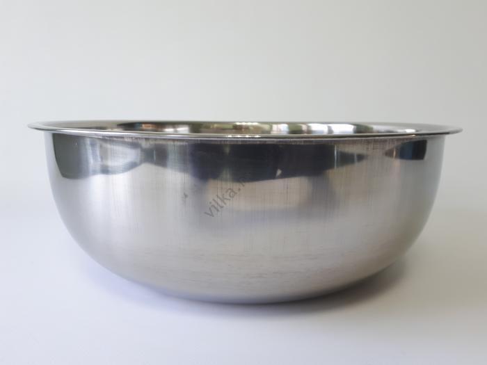Миска нержавеющая, глубокая в/с d 33,8 cm, h 12 cm. (6,3 л.)