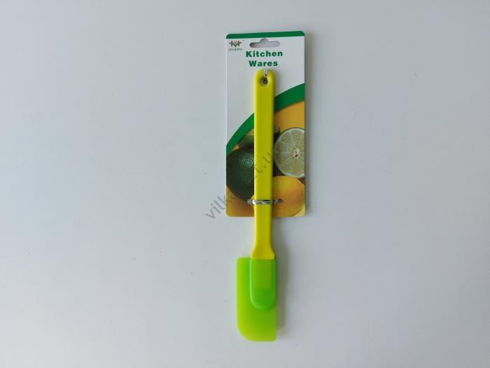 Лопатка силиконовая с пластмассовой ручкой 7*4 cm, L 24 cm.