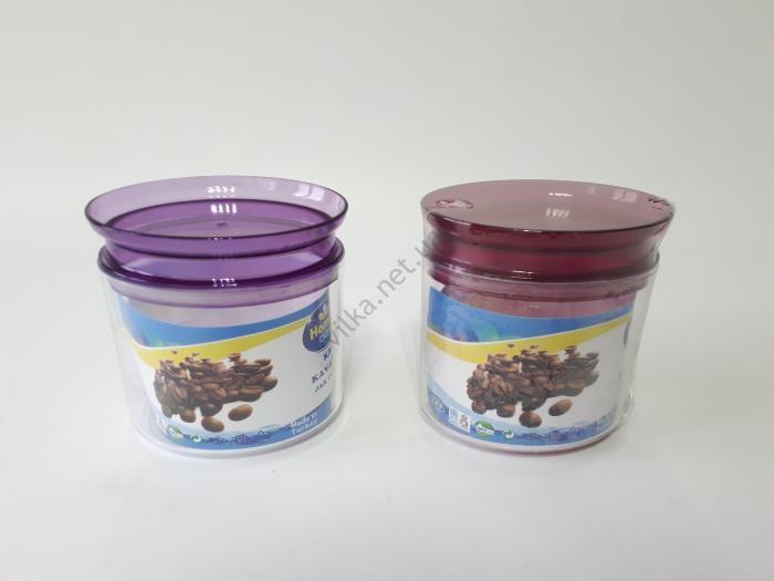 Емкость пластмассовая для сыпучих продуктов 12*9 cm, h 13 cm. (500 мл.)
