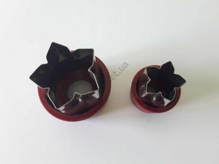 Насадки кондитерские для канапе из 2-х d1-2,5 cm; h-4,4 cm; d2-3,5 cm; h-5,5 cm