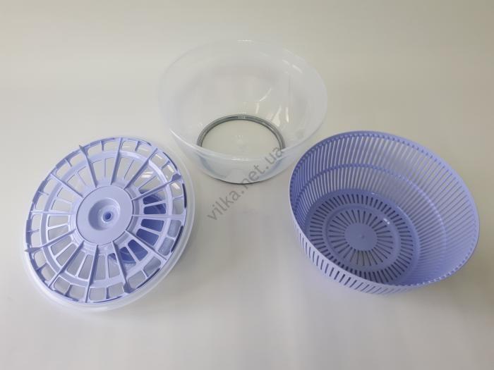 Миска пластмассовая, для мытья и сушки фруктов и зелени d 26 cm, h 15 cm.