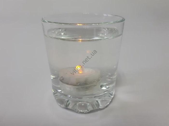 Свеча  один цвет 3 х 2 см. (водяная свеча)