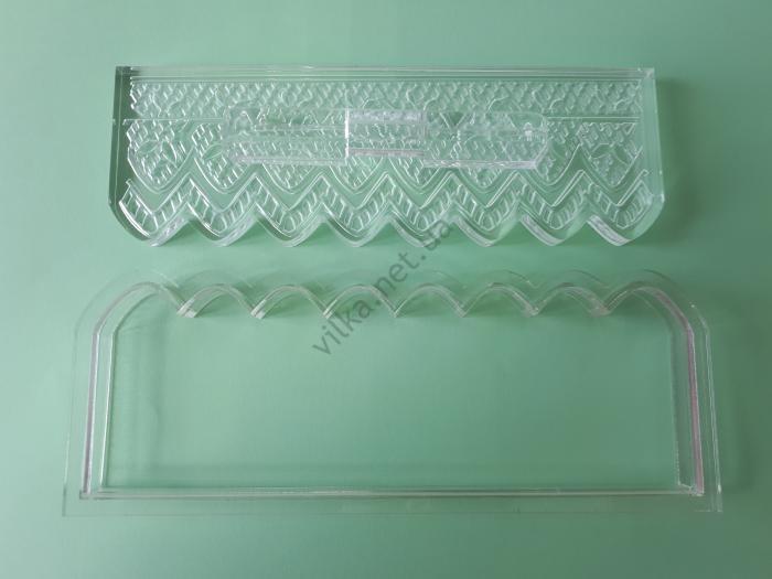 Вырубка кондитерская пластмассовая 15 х 4,5 см.