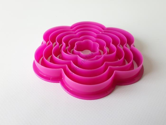 Форма пластмассовая для печенья из 6-ти Цветочек