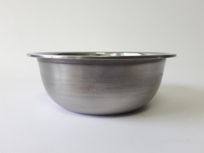 Миска нержавеющая, глубокая 1-ый сорт d 19 cm, h 7 cm. (1,3 л.)