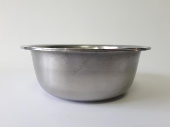Миска нержавеющая, глубокая 1-ый сорт d 21,2 cm, h 8 cm. (1,8 л.)