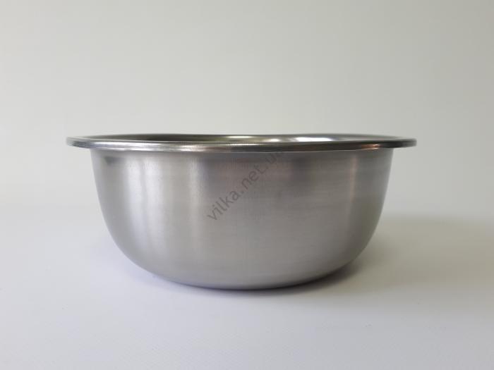 Миска нержавеющая, глубокая 1-ый сорт d 23 cm, h 9 cm. (1,9 л.)