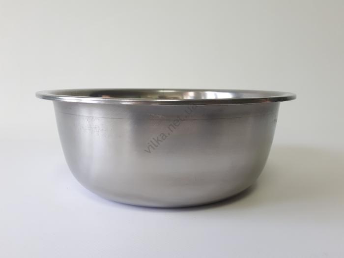 Миска нержавеющая, глубокая 1-ый сорт d 25 cm, h 9,5 cm. (3,2 л.)