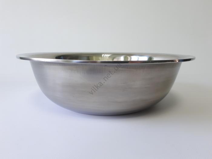 Миска нержавеющая, глубокая в/с d 35 cm, h 10,5 cm. (5 л.)