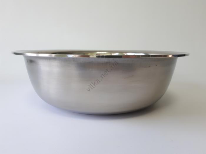 Миска нержавеющая, глубокая в/с d 39 cm, h 12 cm. (7,5 л.)