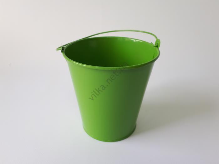 Ведёрко металлическое цветное d 10 cm; h 9,5 cm