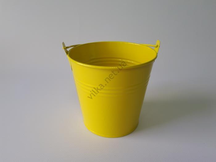 Ведёрко металл цветное d 11 cm; h 10 cm