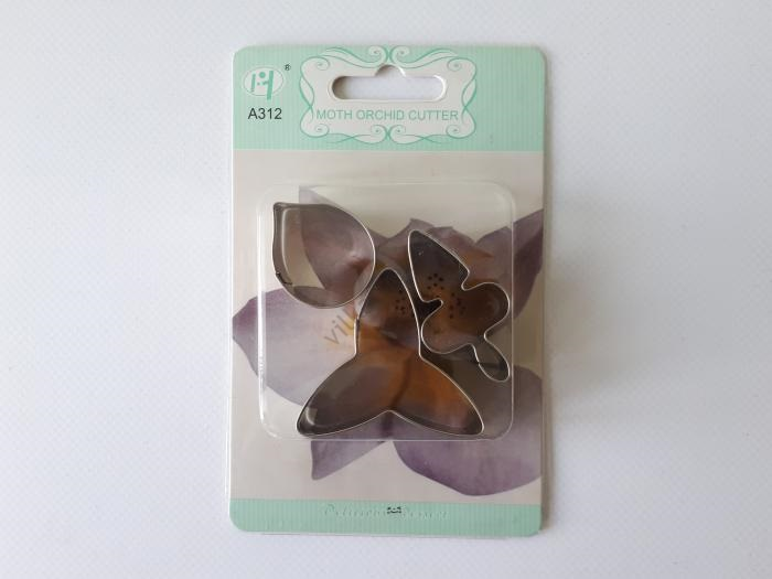Форма кондитерская металлическая из 3-х Орхидея