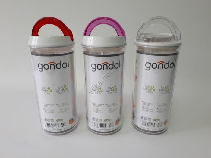 Банка пластмассовая для сыпучих продуктов G-496 d 10 cm, h 23 cm. (1,25 л.)