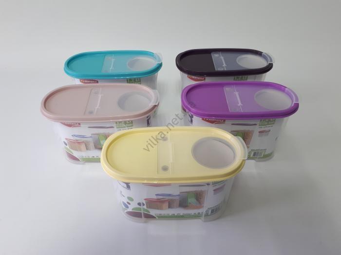 Ёмкость пластмассовая для сыпучих 19,5*10 cm, h 12,5 cm. (1,2 л.)