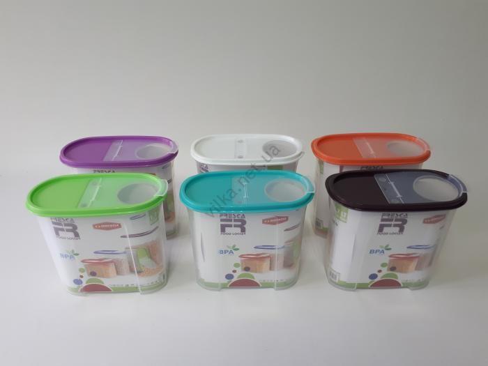 Ёмкость пластмассовая для сыпучих продуктов 19,5*10 cm, h 18 cm. (1,7 л.)
