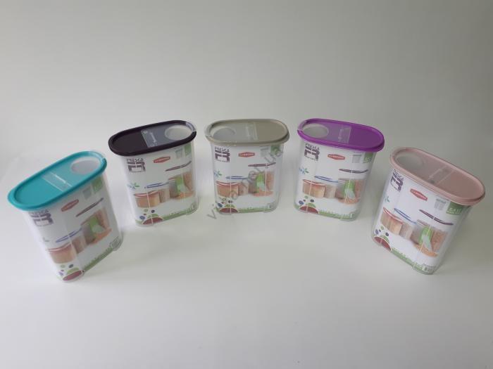 Ёмкость пластмассовая для сыпучих продуктов 19,5*10 cm, h 24 cm. (2,4 л.)