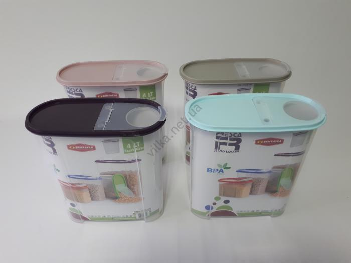 Ёмкость пластмассовая для сыпучих продуктов 24*11 cm, h 27 cm. (4 л.)