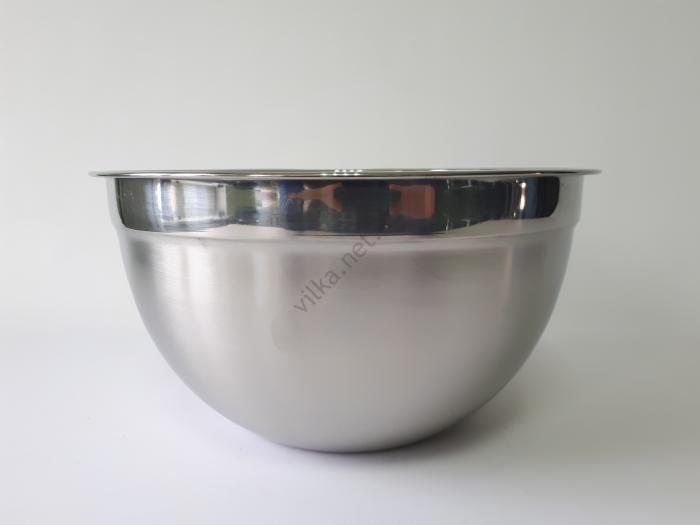 Миска нержавеющая, глубокая, для миксера с меркой d 30 cm, h 16 cm.  (7.1 л.)