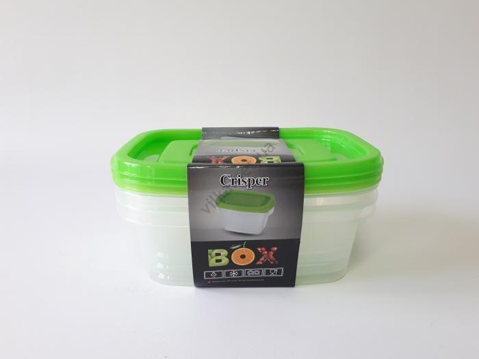 Судки пластмассовые в наборе из 3-х 20*14 cm, h 7 cm. (1 л.)