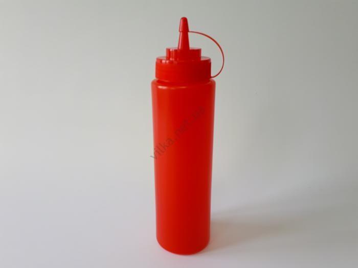 Бутылка пластмассовая для соуса 650 ml., L 26 cm.