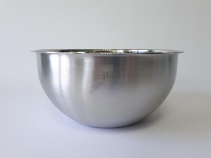 Миска нержавеющая глубокая матовая d 25,5 cm, h 12 cm. (3.9 л.)