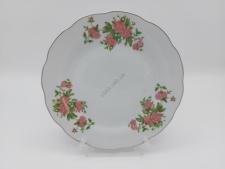 Тарелка  розовая роза  для 2-го №9 - 23 см. (12 шт. в уп.)