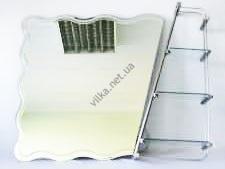 Зеркало фигурное с полкой 700 х 900