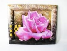 Картина Роза сиреневая 20 х 25