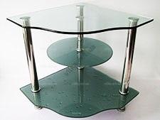 Тумбочка под телефон серебро 45 х 45 cm; h 50,5 cm