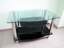 Тумбочка под TV стекло 90 х 55 черная капля
