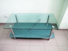 Стол журнальный стекло 110 х 60 капля+серебро