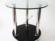 Тумбочка под телефон черное стекло 45 x 45 cm; h 51 cm