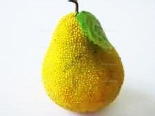 Груша желтая с жемчугом - 8,5 см.