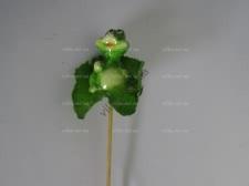 Фигурка для клумбы Лягушка на листике