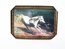Картина голография  Конь  50 х 70