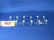 Вешалка из шести крючков с хрусталиком