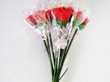 Набор свечей из 11-ти 31 см.  Розы 09870