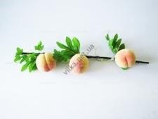 Ветка с персиками  3 шт. на ветке 60 см.