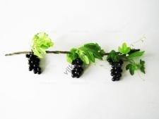 Лоза виноградная с черным виноградом 59 см.