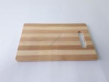 Доска деревянная с полосками 16 х 24 х 0,9