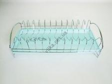 Сушилка нержавеющая для тарелок с поддоном 39 х 18 х 10 см.