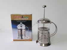 Чайник-заварник нерж Полоса  800 мл.