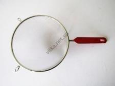 Сито нержавейка с красной ручкой 18 см.